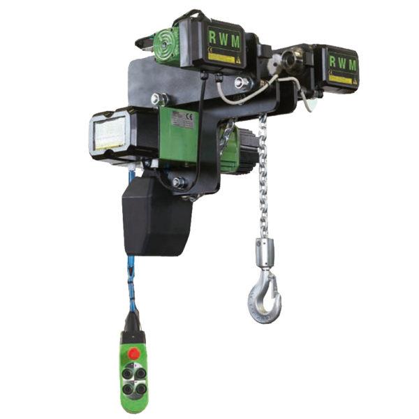 Paranco elettrico a catena rwm cs ce ribassati alfatech for Paranco elettrico 1000 kg
