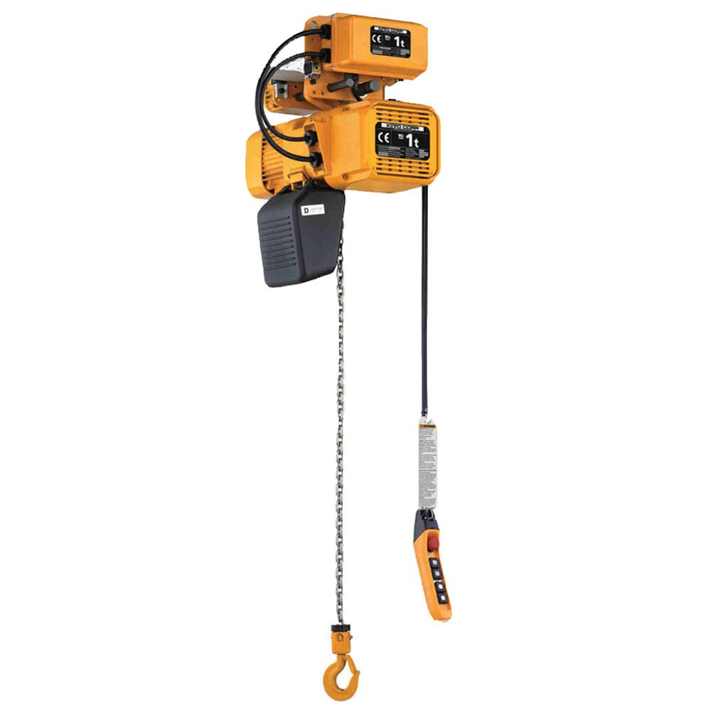 Paranco elettrico a catena kito krr alfatech sollevamento for Paranco elettrico usato