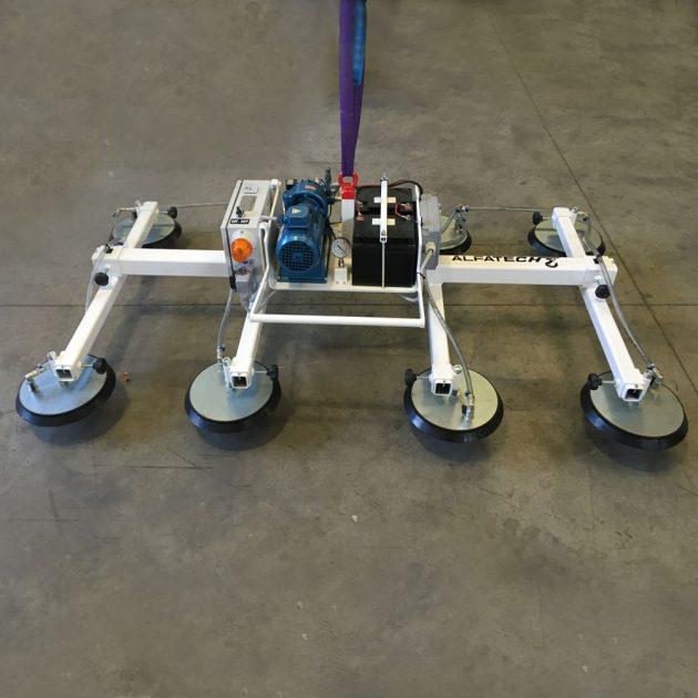 Ventosa per lamiera autoalimentata con batteria