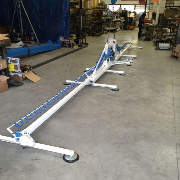 Ventosa per lamiera telscopica con braccio rotanti da 4 a 9 metri