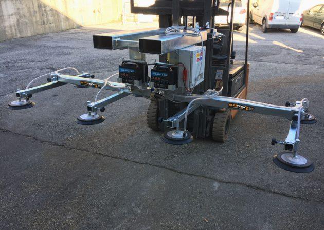 Ventose inforcabili con batteria autonoma 8 piastre