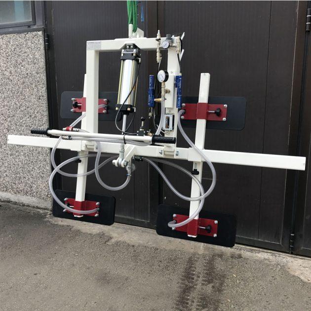 ventosa per pannelli di legno con ribaltamento pneumatico 0-90° orrizzontale verticale