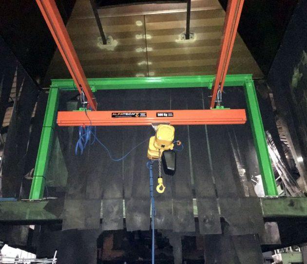 Impianto sospeso portata 500 kg