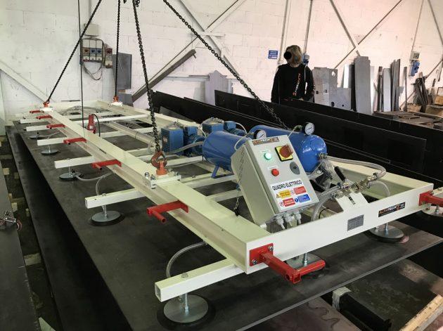ventosa per lamiera fissa con 28 piastre elettrica portata 2000kg