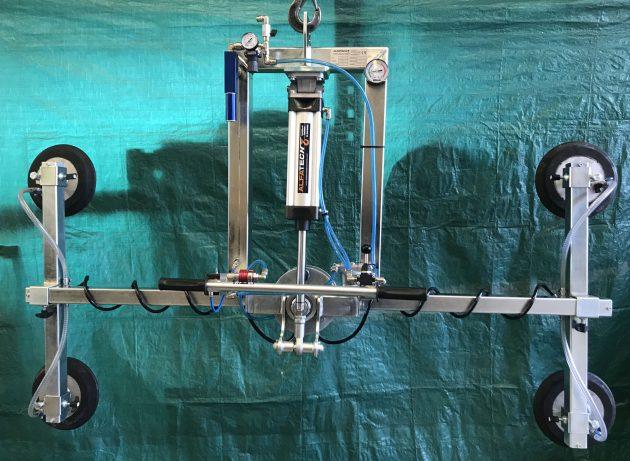 ventosa per vetro basculamento pneumatico rotazione manuale