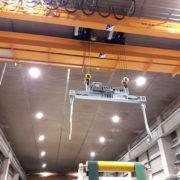 bilancino per bobine con rotazione elettrica portata 12.500kg