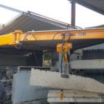 gru a mensola con braccio snodato portata 500kg per sollevamento marmo