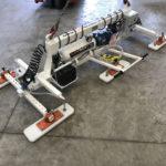 Ventosa per pannelli sandwich sfilabile con batteria autonoma