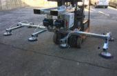 Ventosa inforcabile con batteria autonoma e comando dalla cabina del carrello elevatore