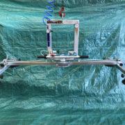 ventosa pervetro con rotazione e basculamento manuale 4 piastre alimentazione ad aria compressa